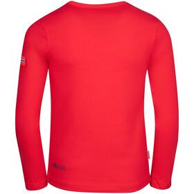 TROLLKIDS Troll Longsleeve Shirt Kids, bright red/mystic blue